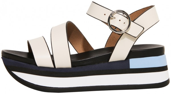 Inuovo Sandals Leather Offwhite/Black