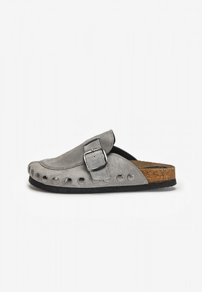 Inuovo Mules Leather Light Gray