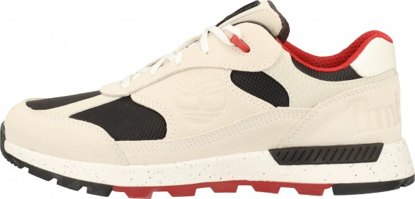 Timberland Sneaker Leder/Textil Hellgrau/Rot