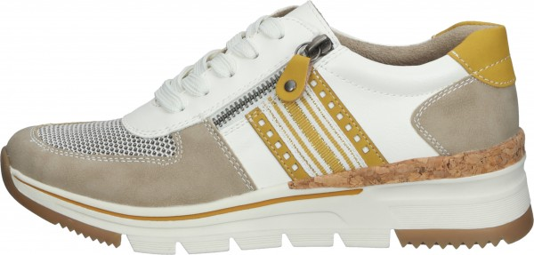 Relife Sneaker Lederimitat/Textil Grau/Weiß