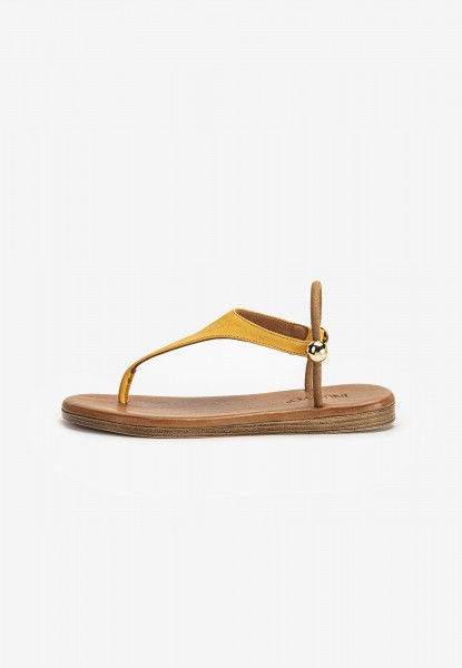 Inuovo Thong Leather Mustard