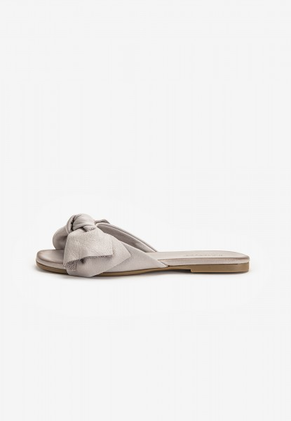 Inuovo Mules Canvas Silver/grey