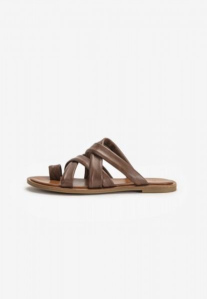 Inuovo Mules Leather Dark brown
