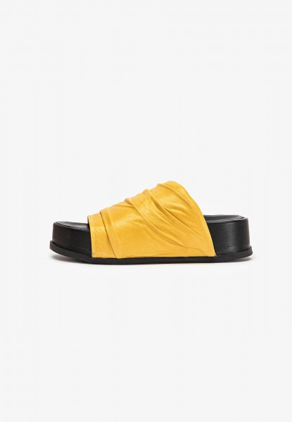 Inuovo Pantoletten Leder Mustard