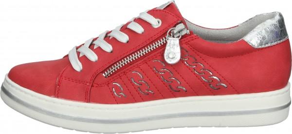 Relife Sneaker Lederimitat Rot/Silber