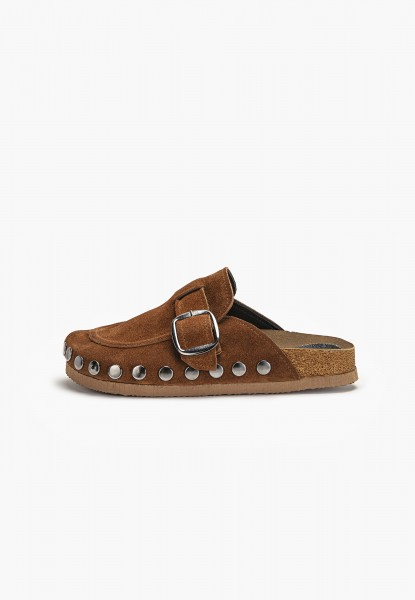 Inuovo Mules Leather Medium Brown