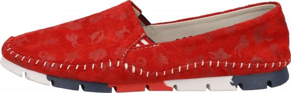 Cosmos Comfort Slipper Velourleder/Textil Rot