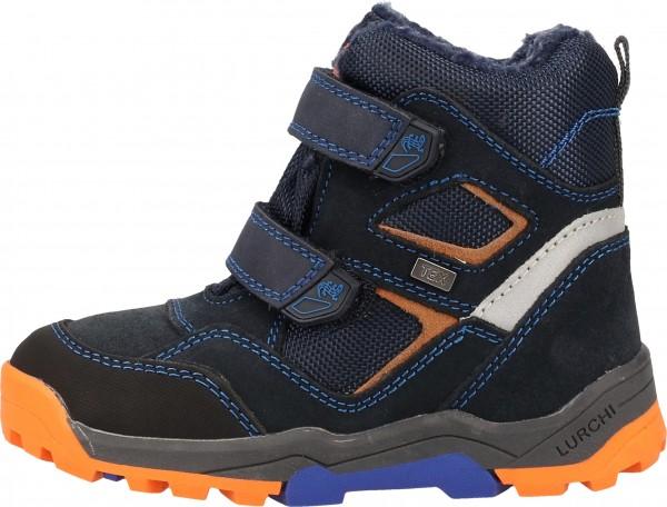Lurchi Stiefel Velourleder/Textil Blau