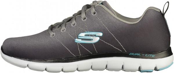 Skechers Sneaker Textil Schwarz/Grau
