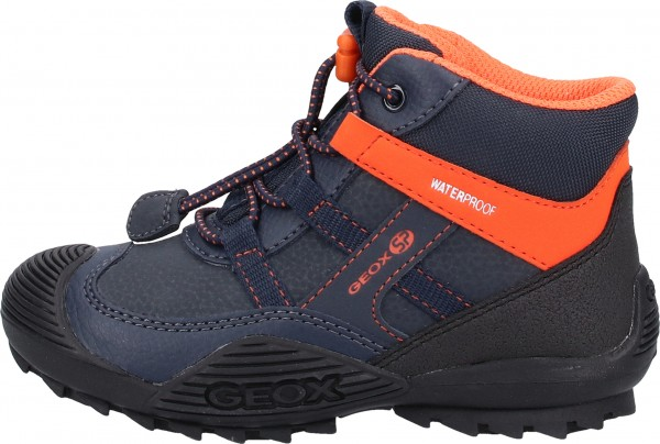 Geox Stiefelette Lederimitat/Mesh Navy/Orange