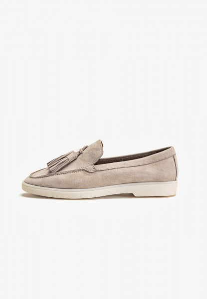 Inuovo Loafers Leather Light Gray