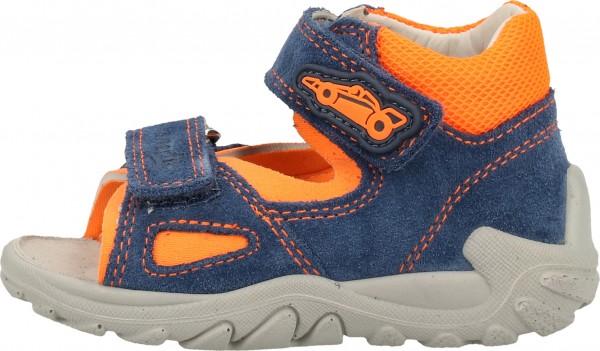 Superfit Sandalen Veloursleder/Textil Blau/Orange