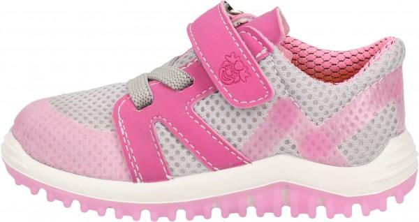 Pepino Sneaker Lederimitat/Mesh Grau/Pink