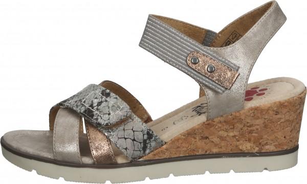 Relife Sandalen Textil Braun/Silber