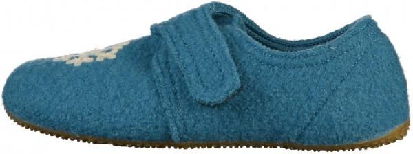 Living Kitzbühel Hausschuhe Schurwolle Blau