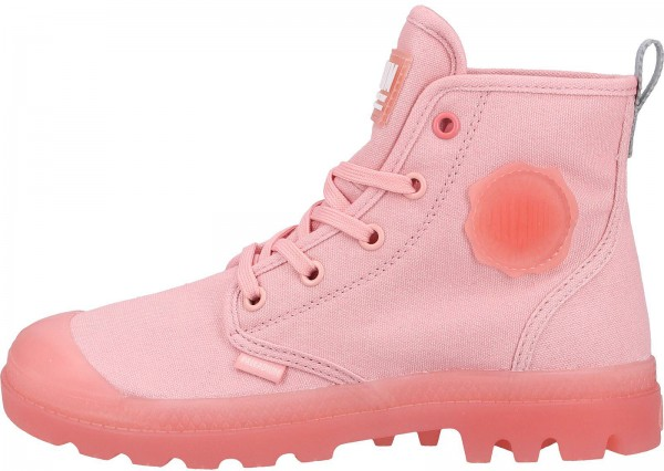 Palladium Stiefelette Canvas Rose