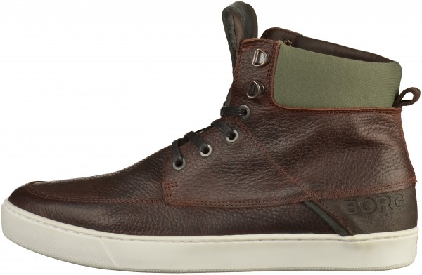 Björn Borg Sneaker Leather/Textile Dark Brown