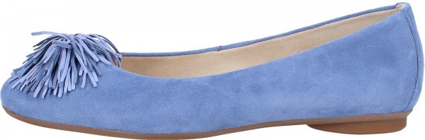 Paul Green Ballerinas Leder Blau