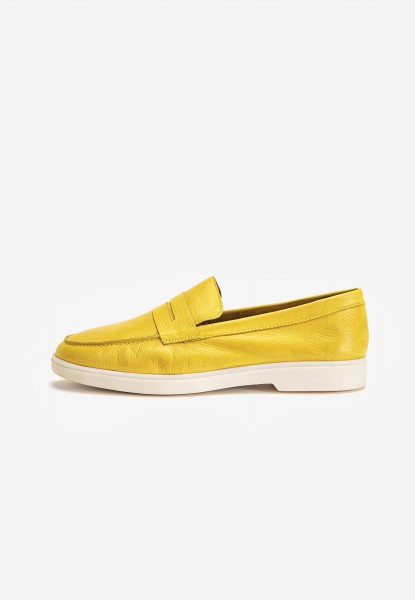 Inuovo Slipper Leder Yellow