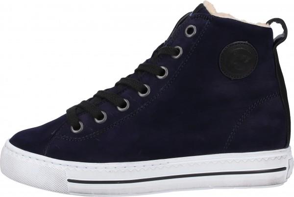 Paul Green Sneaker Nubukleder Blau