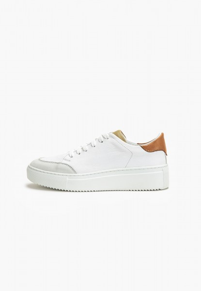 Inuovo Sneaker Leather Olive/white