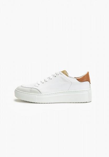 Inuovo Sneaker Leder Olive/Weiß