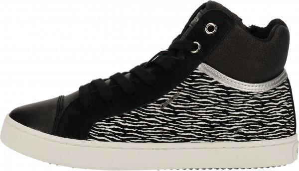 Geox Sneaker Leder/Synthetik Schwarz
