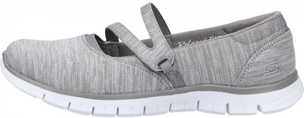 Skechers Ballerinas Textil Grau