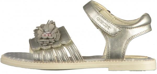 Geox Sandalen Lederimitat Silber