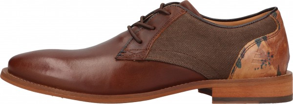 Bullboxer Business shoes Leather/Textile brown