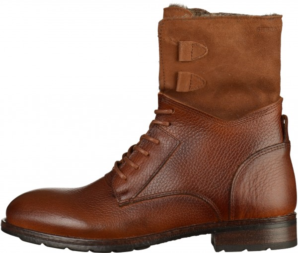 Sebago Booties Leather Cognac