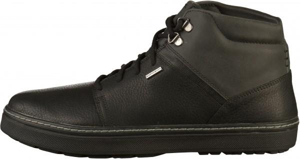 Geox Sneaker Leder/Textil Schwarz Warmfutter