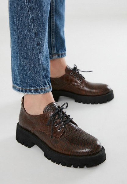 Inuovo Lace Ups Leather Dark brown
