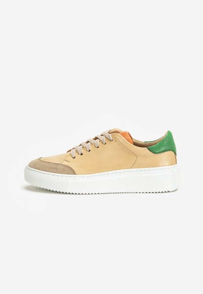 Inuovo Sneaker Leder Beige/Orange