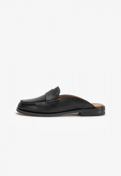 Inuovo Mules Leather black2
