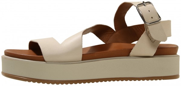 Inuovo Sandals Leather Beige/offwhite