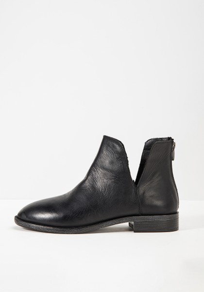 Inuovo Booties Leather fabric black2