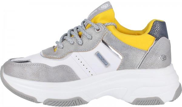 Dockers Sneaker Lederimitat Silber