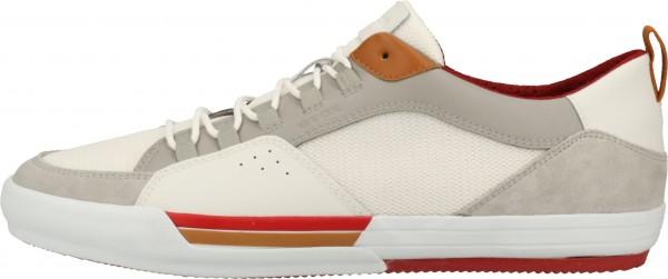 Geox Sneaker Leder/Textil Hellgrau/Weiß