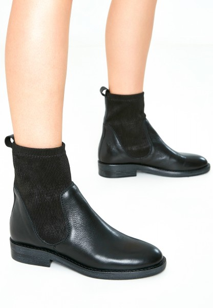 Inuovo Booties Leather/Textile black2