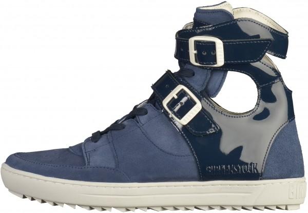 Birkenstock Thessaloniki Sneaker Naturleder Navy