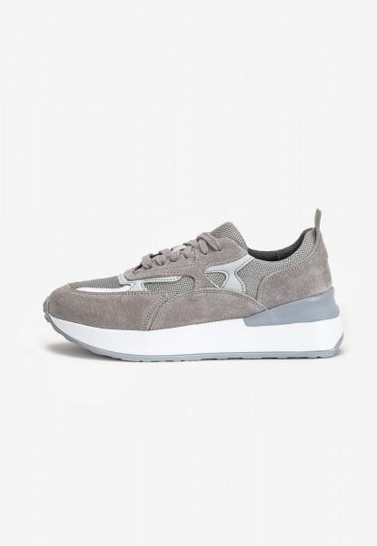 Inuovo Sneaker Leder/Textil Hellgrau