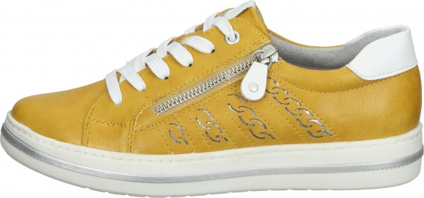 Relife Sneaker Lederimitat Gelb/Silber