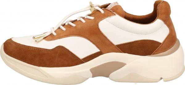 Tamaris Sneaker Leder Weiß/Braun