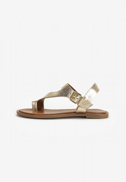 Inuovo Thong Leather Gold
