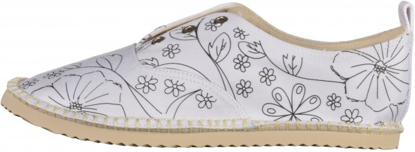 Lillys Closet Loafers Textile white / black