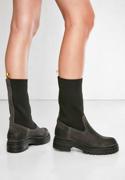 Inuovo Booties Leather/Textile Graphite