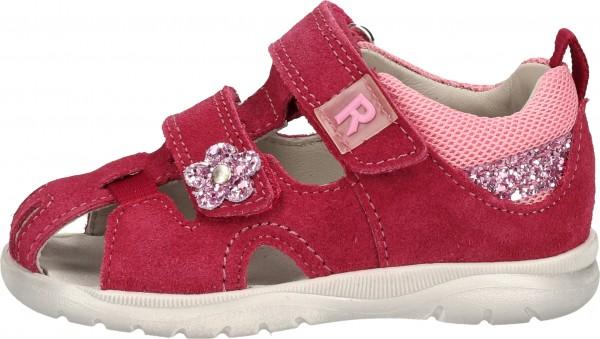 Richter Sandalen Veloursleder/Textil Rot/Pink
