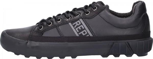 Replay Sneaker Leder/Textil Schwarz