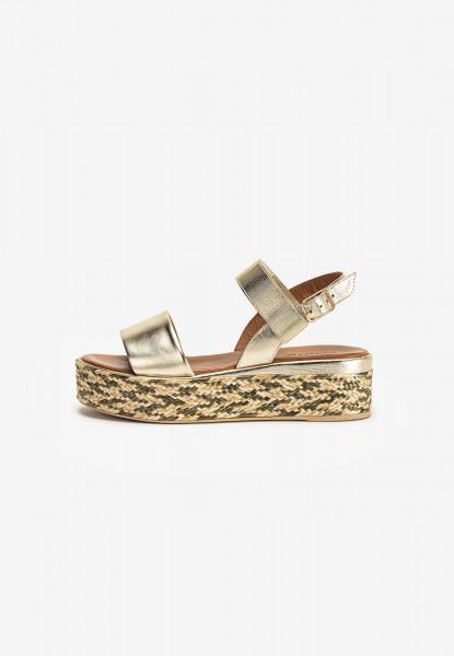 Inuovo Sandalen Leder/Textil Gold